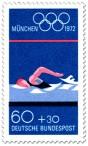 Briefmarke: Schwimmen (Olympische Spiele 1972)
