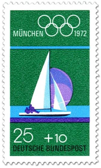 Briefmarke: Segelboot, Segeln  (Olympische Spiele 1972)