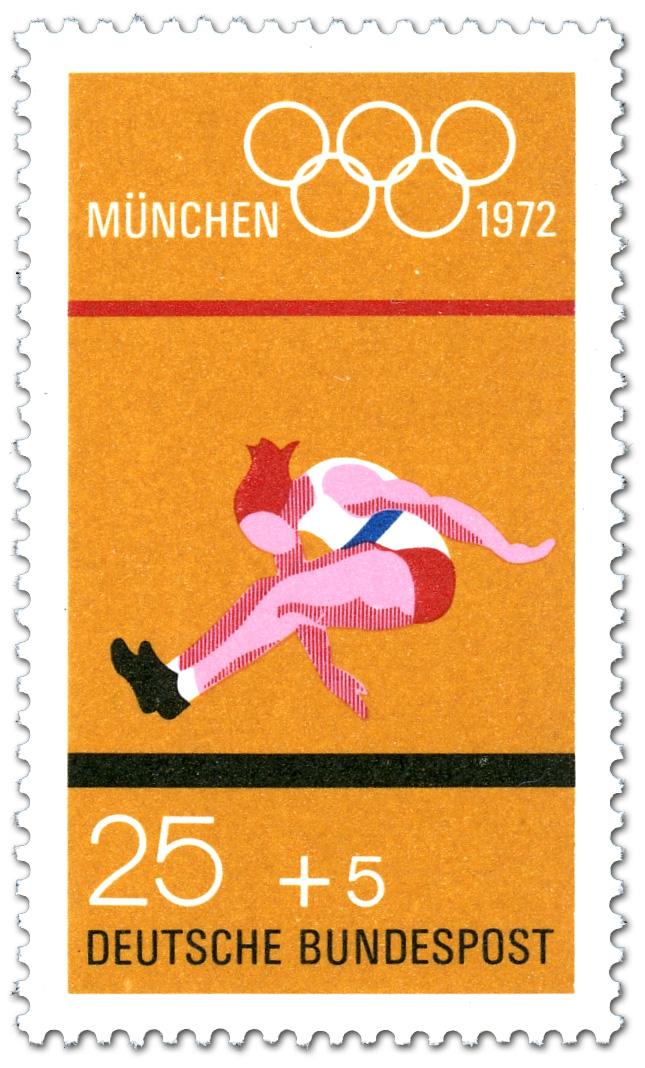 Weitsprung (Olympische Sommerspiele 1972 in München), Briefmarke 1972