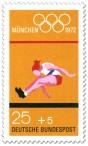Briefmarke: Weitsprung (Olympische Sommerspiele 1972 in München)