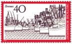 Briefmarke: Bremen Hafen-Ansicht
