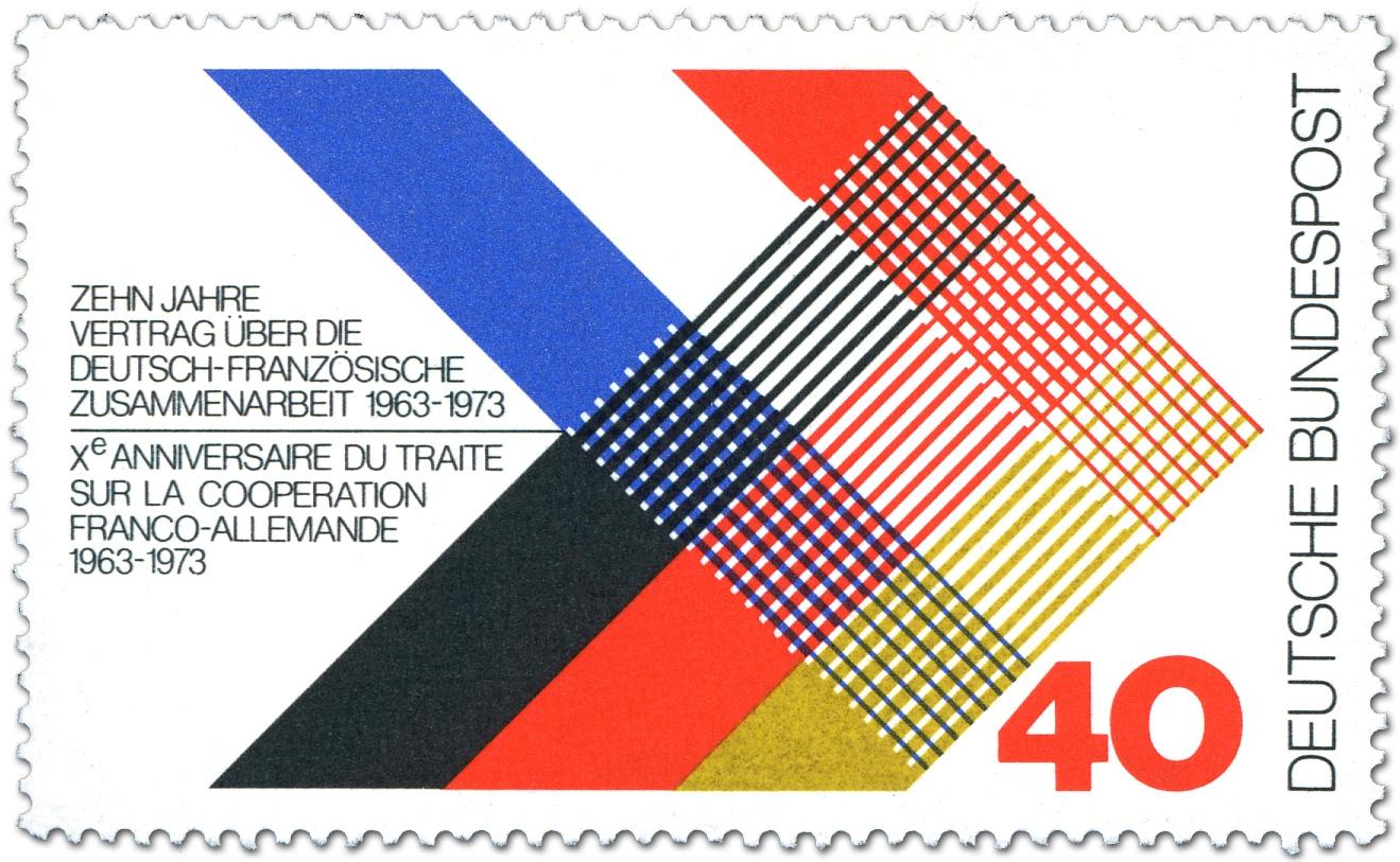 Deutsch Franzoesische Zuammenarbeit Briefmarke 1973