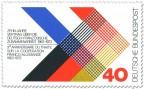 Briefmarke: Deutsch Franzoesische Zuammenarbeit