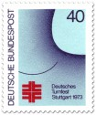 Briefmarke: Deutsches Turnfest Stuttgart 1973