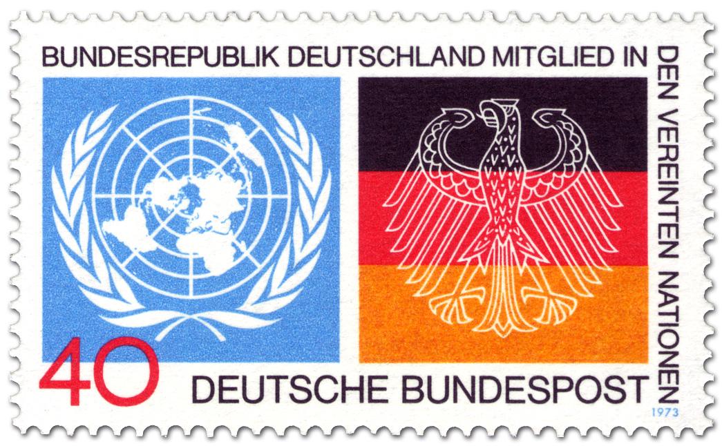 Deutschland Mitglied Bei Der Uno Briefmarke 1973