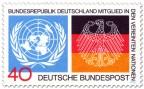 Briefmarke: Deutschland Mitglied bei der Uno