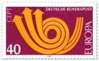 Briefmarke: Europamarke 1973 (Posthorn, rot)