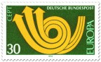 Briefmarke: Europamarke 1973 (Posthorn)