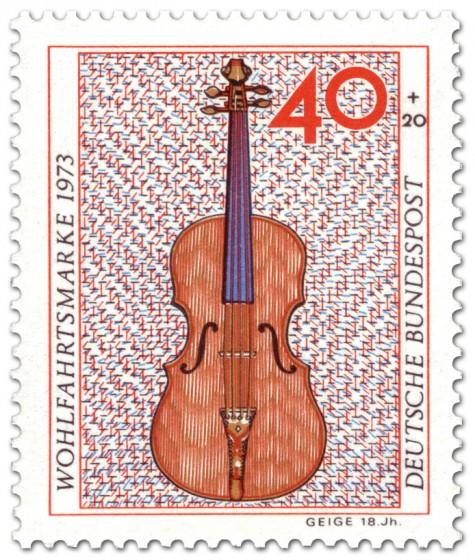 Briefmarke: Geige aus dem 18. Jahrhundert