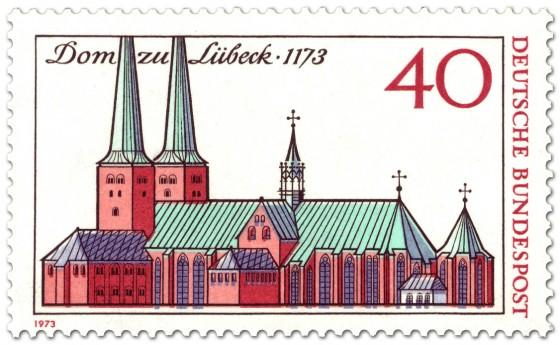 Briefmarke: 800 Jahre Lübecker Dom (Zeichnung)
