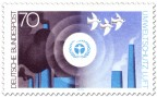 Briefmarke: Umweltschutz: Luft, Vögel und Rauch