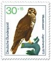 Briefmarke: Mäusebussard