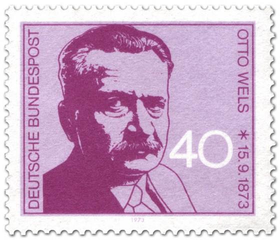 Briefmarke: Otto Wels (Politiker)