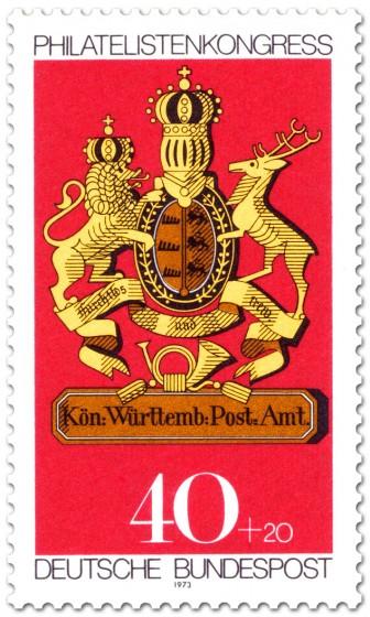 Briefmarke: Posthausschild Württemberg
