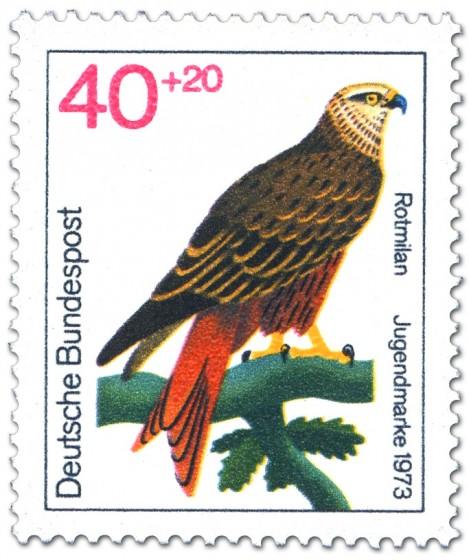 Briefmarke: Rotmilan