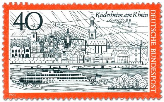 Briefmarke: Rüdesheim am Rhein (Stadtansicht)