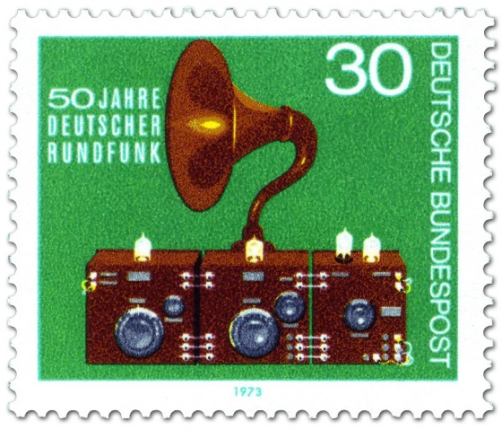 Briefmarke: Rundfunkgerät (50 Jahre deutscher Rundfunk)