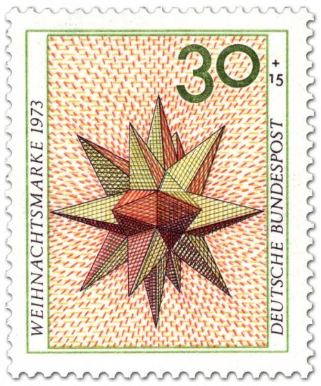 Briefmarke: Weihnachtsstern Papier (Weihnachtsmarke 1973)