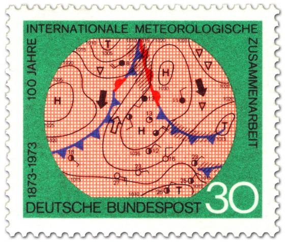 Briefmarke: Wetterkarte Meteorologie