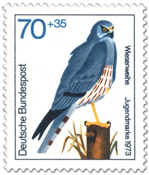 Briefmarke: Wiesenweihe