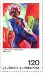 Briefmarke: Alter Bauer von Ernst Ludwig Kirchner