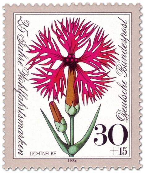 Briefmarke: Blume Lichtnelke