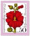 Briefmarke: Blume: Rote Malve