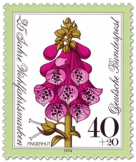 Briefmarke: Blume: Roter Fingerhut