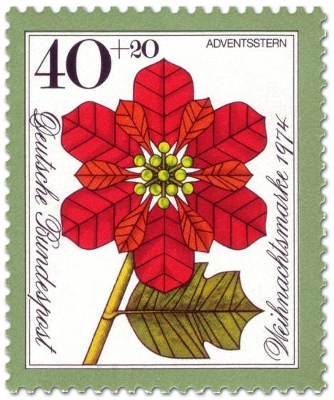 Briefmarke: Roter Weihnachtsstern (Weihnachtsmarke 1974)