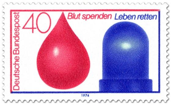 Briefmarke: Blut spenden, Leben retten