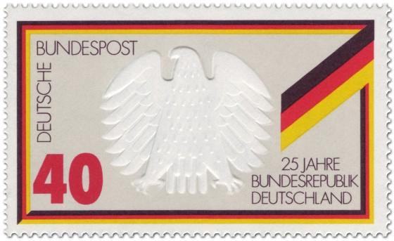 Briefmarke: Bundesadler Deutschland (Schwarz Rot Gold)