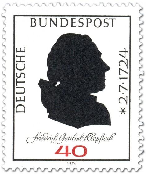 Briefmarke: Friedrich Gottlieb Klopstock (Dichter)