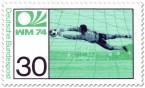 Briefmarke: Fussball Torwart (WM 1974)