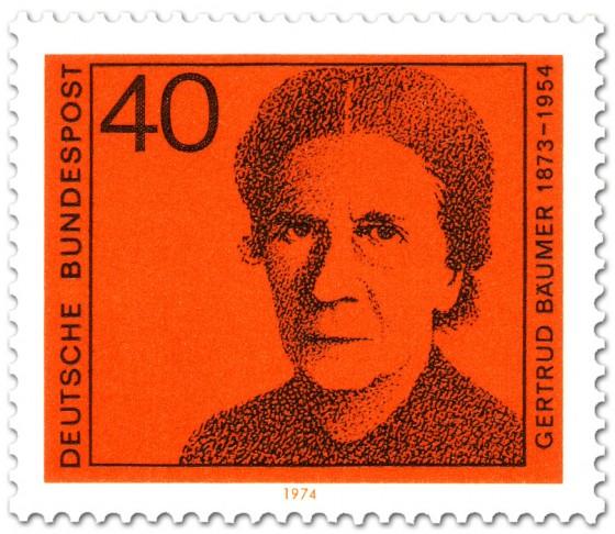 Briefmarke: Gertrud Bäumer (Frauenrechtlerin)
