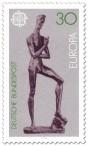 Briefmarke: Emporsteigender Jüngling von Wilhelm Lehmbruck (Europamarke)