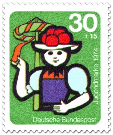 Briefmarke: Jugend und Folklore