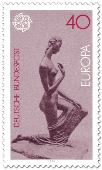 Briefmarke: Kniende von Wilhelm Lehmbruck