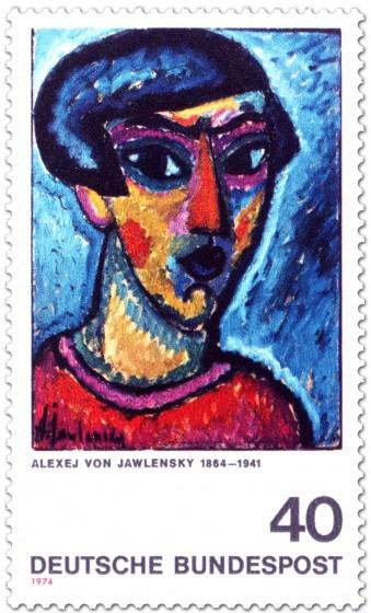 Briefmarke: Blauer Kopf - Alexej von Jawlensky