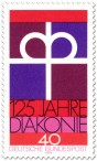 Briefmarke: Kronenkreuz -  125 Jahre Diakonie