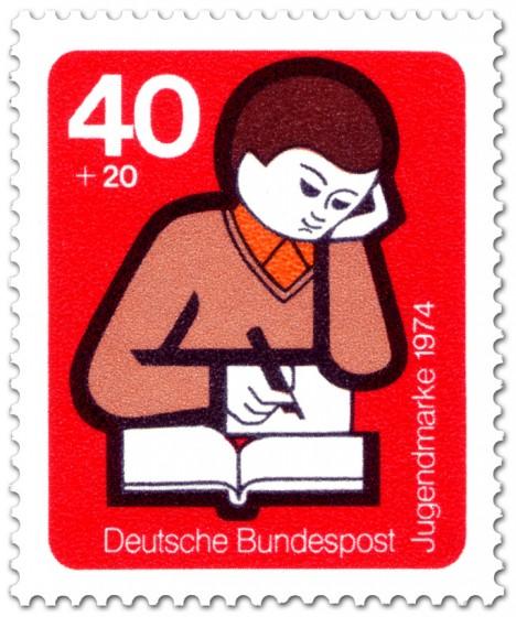 Briefmarke: Lesen, Schreiben, Lernen