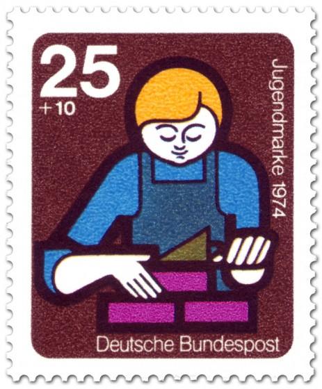 Briefmarke: Mauern, Ausbildung (Jugendmarke)