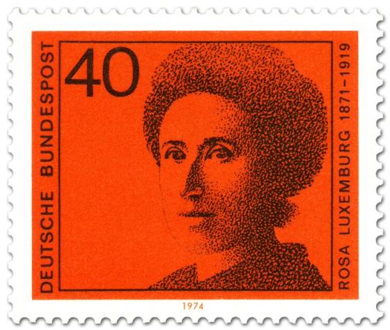 Briefmarke: Rosa Luxemburg Sozialistin