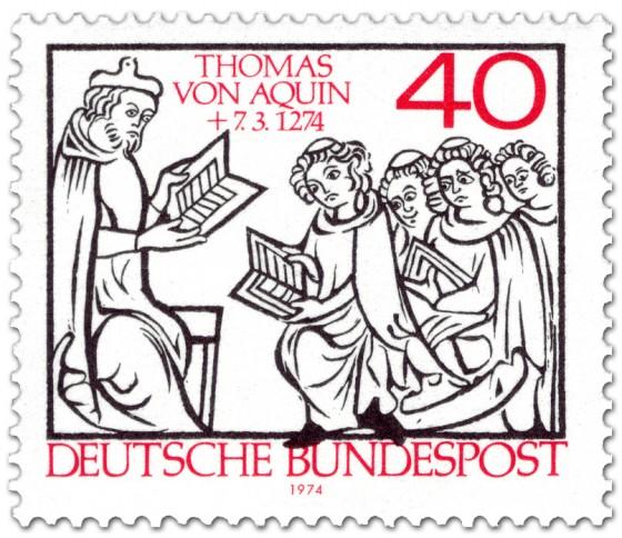 Briefmarke: Thomas von Aquin Vorlesung