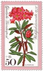 Briefmarke: Rote Alpenrose