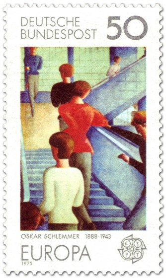 Bauhaustreppe - Gemälde von Oskar Schlemmer