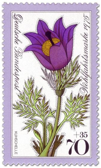 Briefmarke: Gewöhnliche Kuhschelle (Pulsatilla vulgaris)