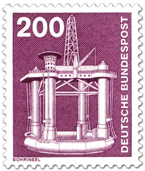 Briefmarke: Bohrinsel