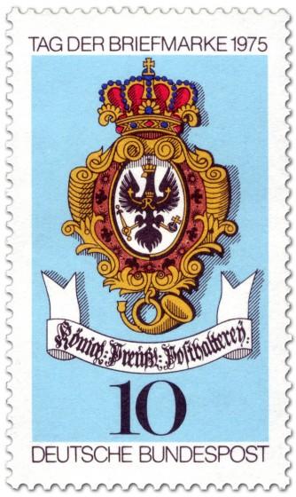Briefmarke: Briefmarke Posthausschild (Preußische Posthalterei)