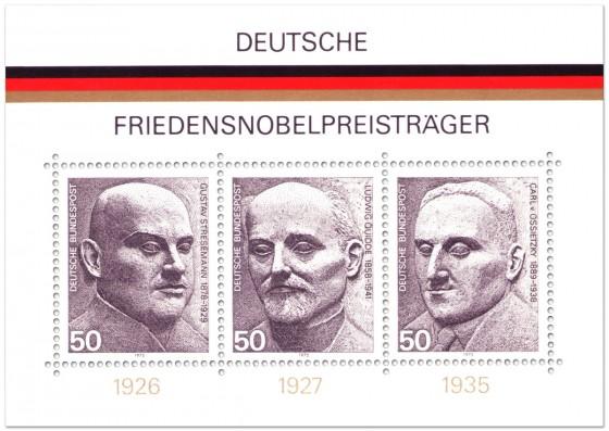 Briefmarke: Deutsche Friedensnobelpreisträger (Briefmarkenblock)