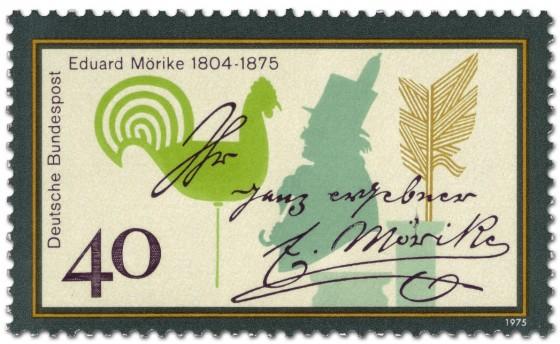 Briefmarke: Eduard Mörike (Erzähler, Pfarrer)